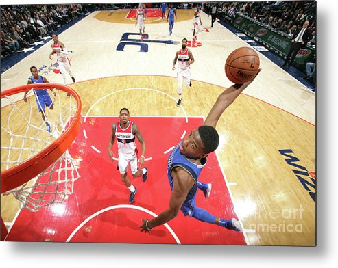 Nba Pro Basketball Metal Print featuring the photograph Dallas Mavericks V Washington Wizards by Ned Dishman