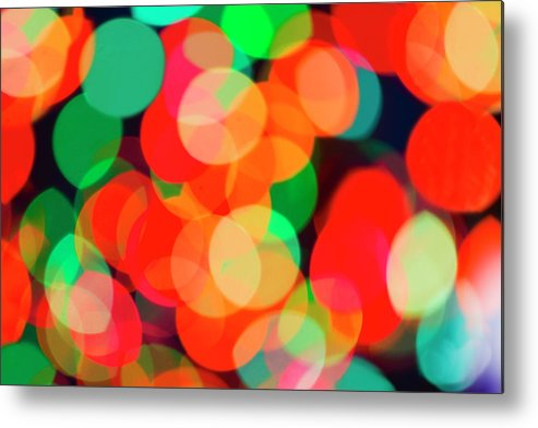 Holiday Metal Print featuring the photograph Defocused Lights by Tetra Images