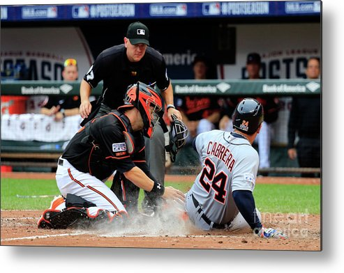 Game Two Metal Print featuring the photograph Division Series - Detroit Tigers V by Rob Carr