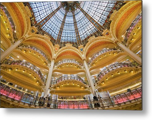 Ile-de-france Metal Print featuring the photograph Dome And Balconies Of Galeries by Izzet Keribar