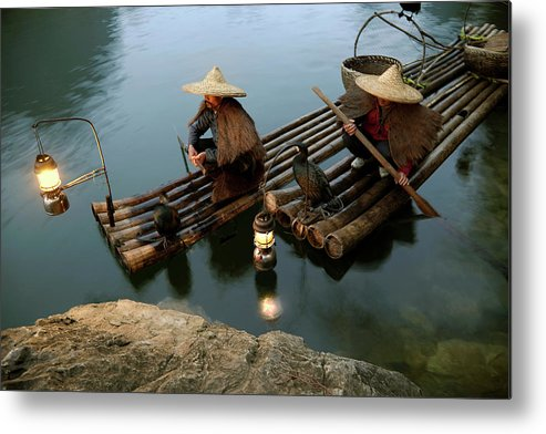 Yangshuo Metal Print featuring the photograph Fishing With Cormorants by Kingwu