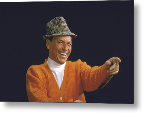 Timeincown Metal Print featuring the photograph Frank Sinatra by John Dominis