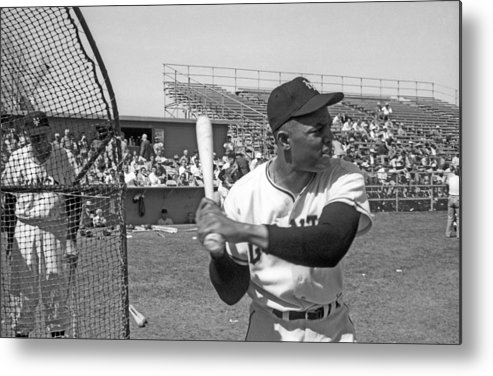 1950-1959 Metal Print featuring the photograph Giants Spring Training by Michael Ochs Archives