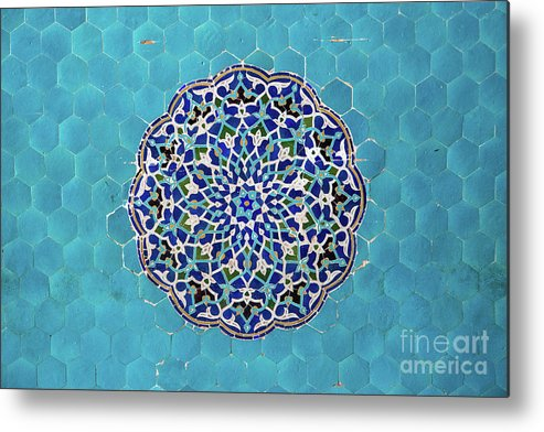 Yazd Metal Print featuring the photograph Jameh Mosque, Yazd, Iran by Sergio Formoso