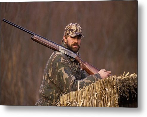1980-1989 Metal Print featuring the photograph Kirk Gibson Goes Duck Hunting by Ronald C. Modra/sports Imagery