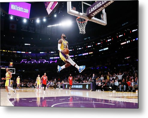 Nba Pro Basketball Metal Print featuring the photograph Lebron James by Chris Elise