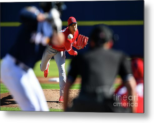 Maryvale Metal Print featuring the photograph Los Angeles Angels Spring Training by Masterpress