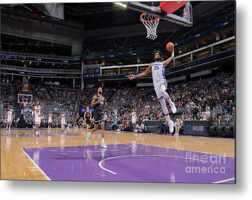 Nba Pro Basketball Metal Print featuring the photograph Melbourne United V Sacramento Kings by Rocky Widner