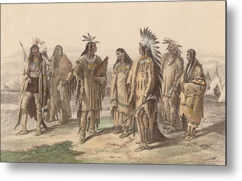 American Culture Metal Print featuring the digital art Native Americans by Hulton Archive