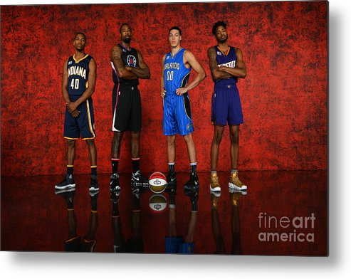 Smoothie King Center Metal Print featuring the photograph Nba All-star Portraits 2017 by Jesse D. Garrabrant