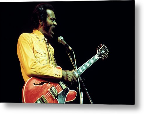 People Metal Print featuring the photograph Photo Of Chuck Berry by Andrew Putler