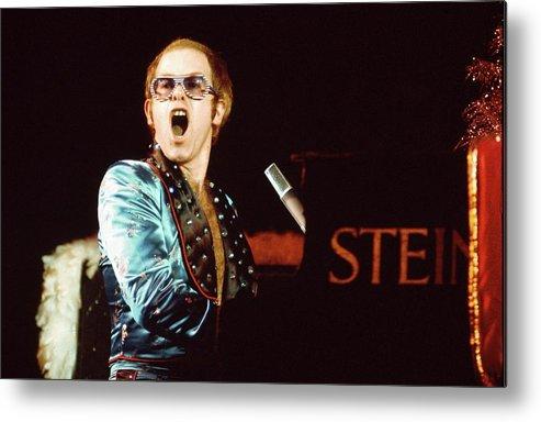 Elton John Metal Print featuring the photograph Photo Of Elton John by David Redfern