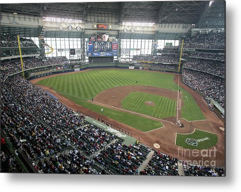 Wisconsin Metal Print featuring the photograph Pittsburg Pirates V Milwaukee Brewers by Jonathan Daniel