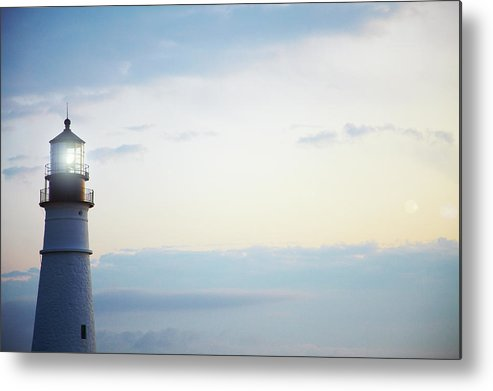 Outdoors Metal Print featuring the photograph Portland Head Lighthouse At Sunrise by Thomas Northcut