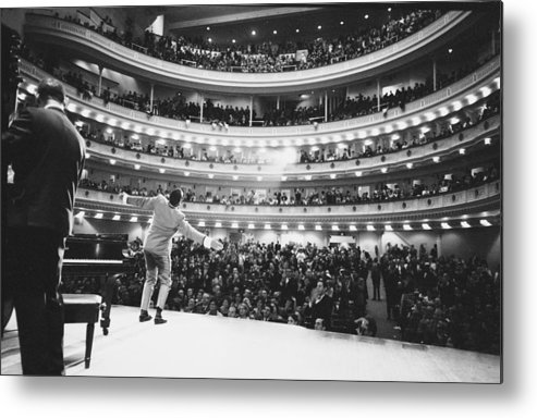 Singer Metal Print featuring the photograph Ray Charles At Carnegie Hall by Bill Ray