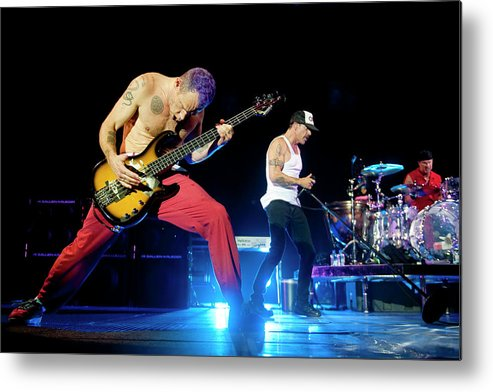 Event Metal Print featuring the photograph Red Hot Chili Peppers Perform At O2 by Neil Lupin