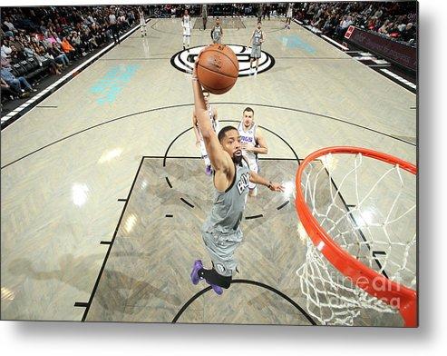 Nba Pro Basketball Metal Print featuring the photograph Sacramento Kings V Brooklyn Nets by Nathaniel S. Butler