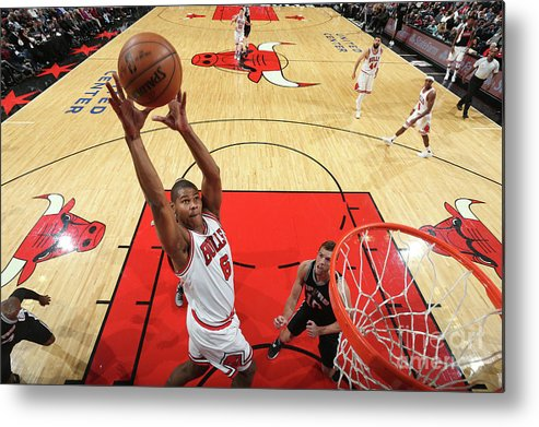Nba Pro Basketball Metal Print featuring the photograph San Antonio Spurs V Chicago Bulls by Nathaniel S. Butler