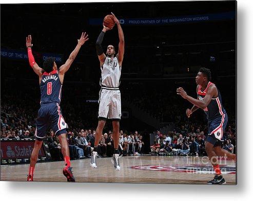 Nba Pro Basketball Metal Print featuring the photograph San Antonio Spurs V Washington Wizards by Ned Dishman