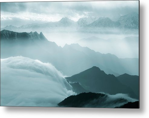 Chinese Culture Metal Print featuring the photograph Sea Of Clouds by 4x-image