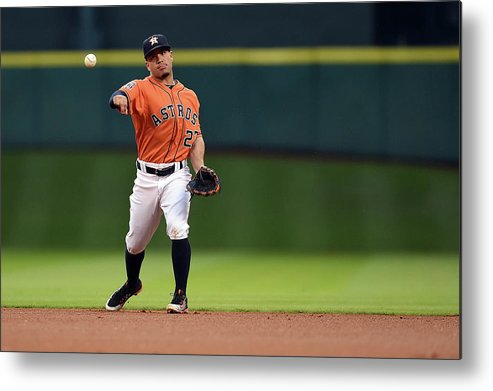 People Metal Print featuring the photograph Seattle Mariners V Houston Astros by Stacy Revere