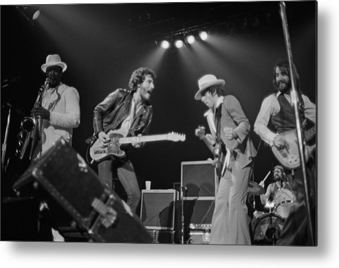 Music Metal Print featuring the photograph Springsteen Live In New Jersey by Fin Costello