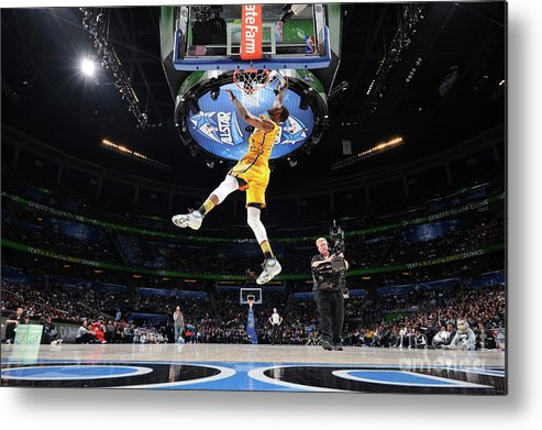 Nba Pro Basketball Metal Print featuring the photograph Sprite Slam Dunk Contest by Andrew D. Bernstein