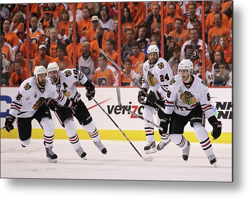 Playoffs Metal Print featuring the photograph Stanley Cup Finals - Chicago Blackhawks by Bruce Bennett