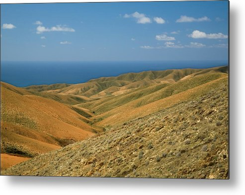 Scenics Metal Print featuring the photograph The Barren Hills Of Western by Roel Meijer