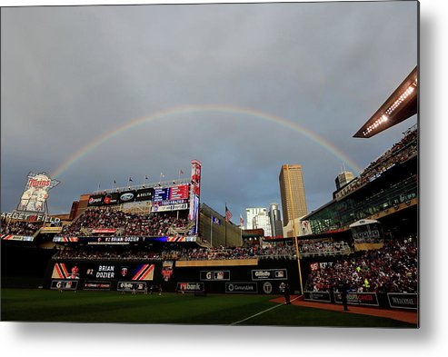 American League Baseball Metal Print featuring the photograph The Gillette Home Run Derby by Rob Carr