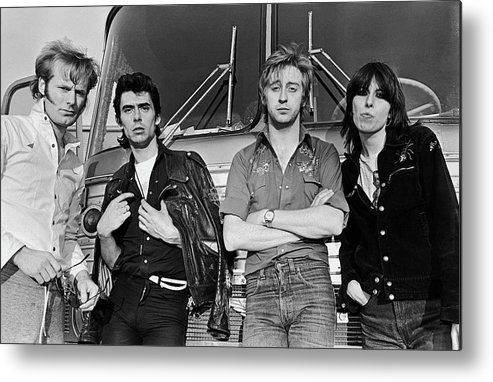 Rock Music Metal Print featuring the photograph The Pretenders by George Rose