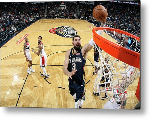 Smoothie King Center Metal Print featuring the photograph Washington Wizards V New Orleans by Layne Murdoch Jr.