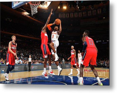 Nba Pro Basketball Metal Print featuring the photograph Washington Wizards V New York Knicks by Jesse D. Garrabrant