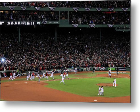 St. Louis Cardinals Metal Print featuring the photograph World Series - St Louis Cardinals V by Jim Rogash