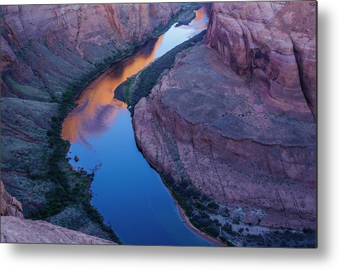 Tranquility Metal Print featuring the photograph Sand Stone Rock Formation In Sw Usa by Gavriel Jecan