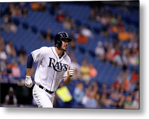 Second Inning Metal Print featuring the photograph Toronto Blue Jays V Tampa Bay Rays by Brian Blanco
