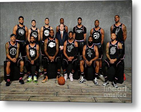 Nba Pro Basketball Metal Print featuring the photograph 2019 Nba All Star Portraits by Jesse D. Garrabrant