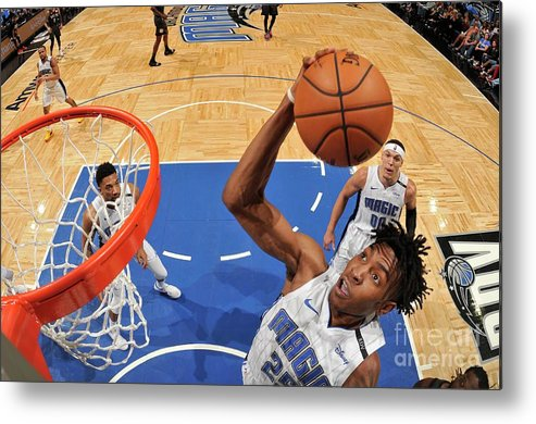 Nba Pro Basketball Metal Print featuring the photograph Brooklyn Nets V Orlando Magic by Fernando Medina