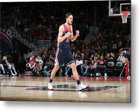 Nba Pro Basketball Metal Print featuring the photograph Philadelphia 76ers V Washington Wizards by Ned Dishman