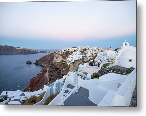 Tranquility Metal Print featuring the photograph Santorini Greece by Neil Emmerson
