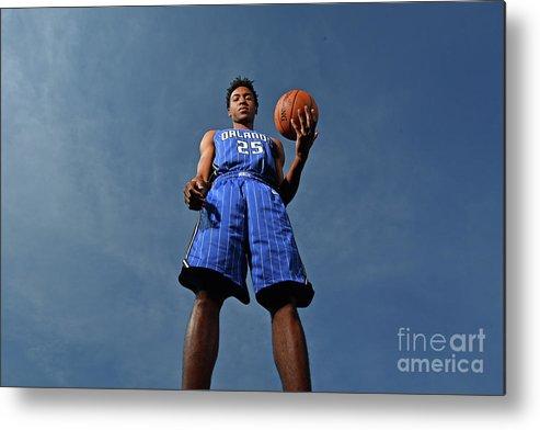 Nba Pro Basketball Metal Print featuring the photograph 2017 Nba Rookie Photo Shoot by Jesse D. Garrabrant