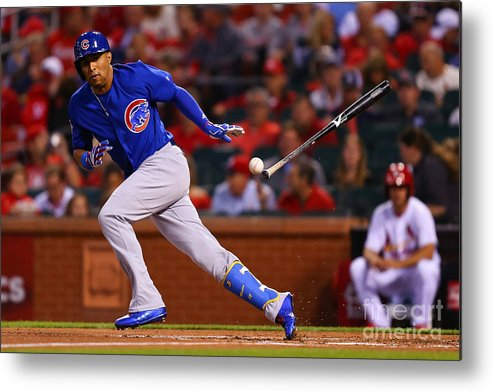 People Metal Print featuring the photograph Chicago Cubs V St Louis Cardinals by Dilip Vishwanat