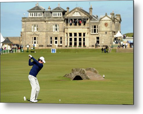 Teeing Off Metal Print featuring the photograph 139th Open Championship - Third Round by Harry How