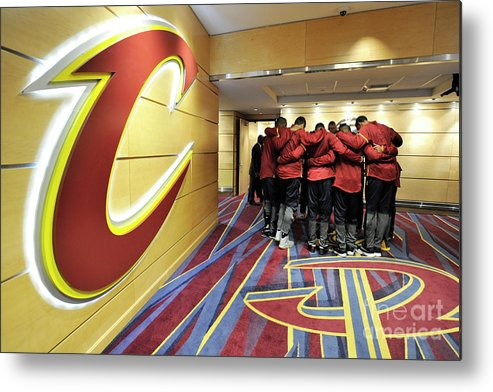 Nba Pro Basketball Metal Print featuring the photograph Houston Rockets V Cleveland Cavaliers by David Liam Kyle
