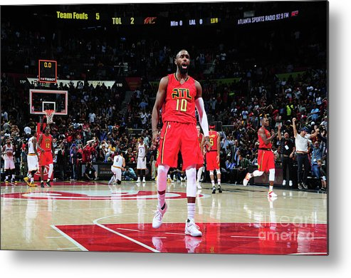 Atlanta Metal Print featuring the photograph Cleveland Cavaliers V Atlanta Hawks by Scott Cunningham