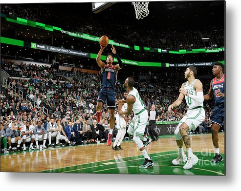 Nba Pro Basketball Metal Print featuring the photograph Washington Wizards V Boston Celtics by Brian Babineau