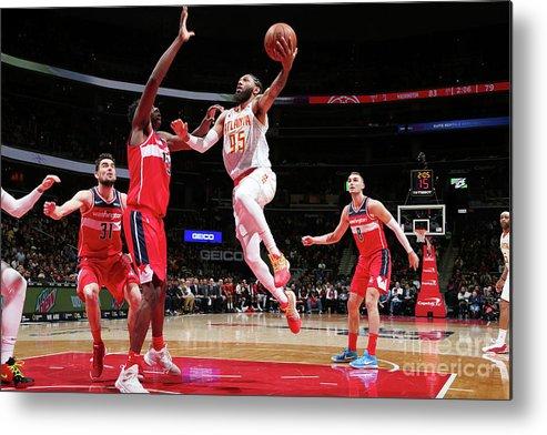 Nba Pro Basketball Metal Print featuring the photograph Atlanta Hawks V Washington Wizards by Ned Dishman