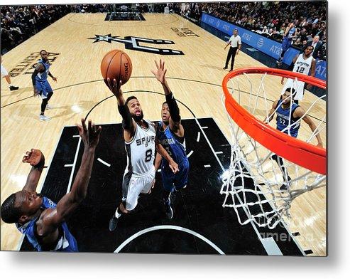 Nba Pro Basketball Metal Print featuring the photograph Minnesota Timberwolves V San Antonio by Mark Sobhani