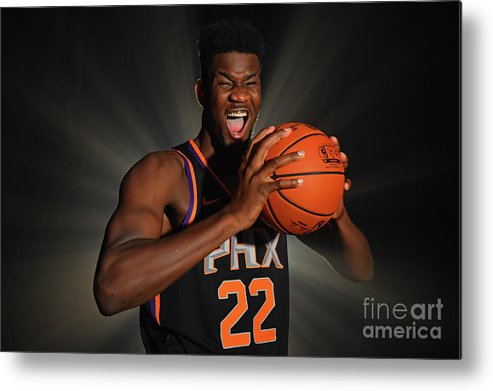 Nba Pro Basketball Metal Print featuring the photograph 2018 Nba Rookie Photo Shoot by Jesse D. Garrabrant