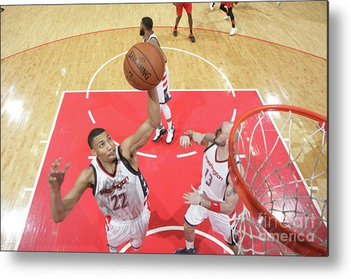Playoffs Metal Print featuring the photograph Atlanta Hawks V Washington Wizards - by Ned Dishman